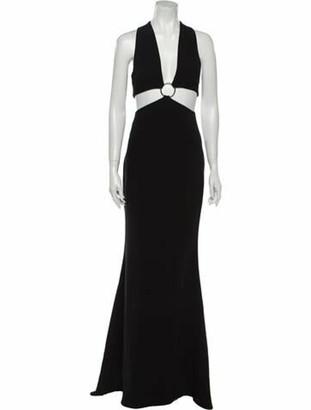 Cinq à Sept Plunge Neckline Long Dress w/ Tags Black