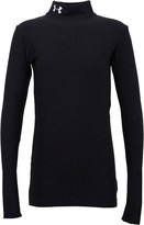 Under Armour Junior ColdGear Compression Long Sleeve Mock Neck Top Black