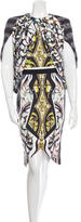 Peter Pilotto Digital Print Cape Dress w/ Tags