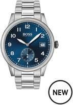 BOSS Boss Legacy Blue Sunray Date Dial Stainless Steel Bracelet Mens Watch