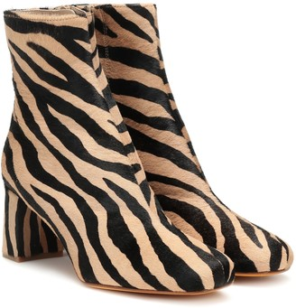 Maryam Nassir Zadeh Exclusive to Mytheresa a Agnes calf hair ankle boots