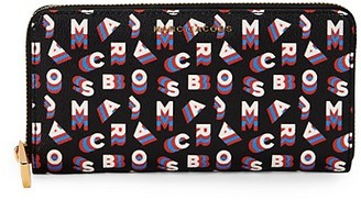 Marc Jacobs Logo Print Continental Wallet