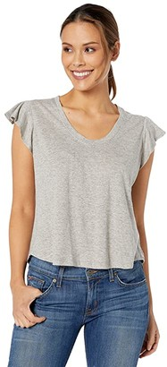 La Vie Rebecca Taylor Sleeveless Washed Texture Jersey (Milk) Women's Clothing