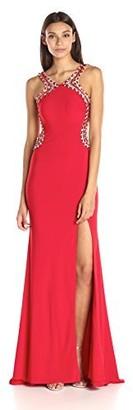 Jovani JVN by Women's Open Back Jersey Prom Gown