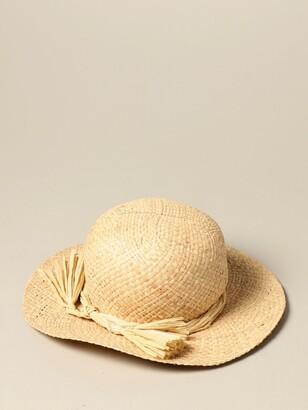 Il Gufo Straw Hat With Bow
