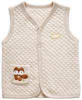 Monvecle Unisex Infant to Toddler Spring Vest Organic Cotton Light Padded Reverse Waistcoat 18-24M