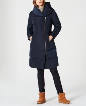 Cole Haan Petite Asymmetrical Down Puffer Coat