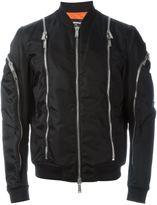DSQUARED2 zip trim bomber jacket