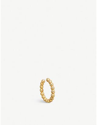Astley Clarke 18ct yellow gold vermeil Stilla beaded ear cuff, Yellow gold
