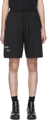 Song For The Mute Black AM/PM Elasticized Shorts