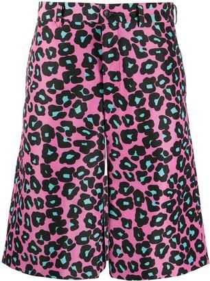 Comme des Garçons Homme Plus Leopard Print Knee-Length Shorts