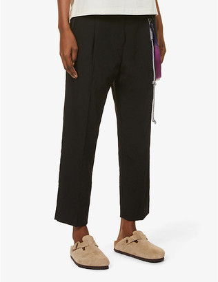 Song For The Mute Tapered high-rise shell trousers