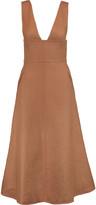 Valentino Cotton-canvas midi dress