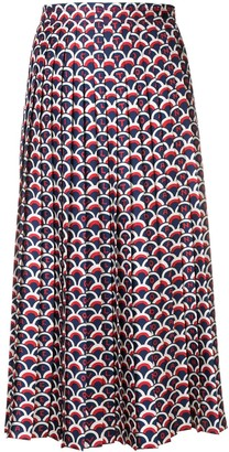 Valentino Scale Print Skirt