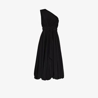 Tibi One Shoulder Belted Midi Dress