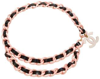Chanel Black & Pink Acrylic Chain Belt