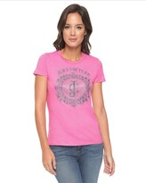 Juicy Couture Logo Jc Crystals Short Sleeve Tee