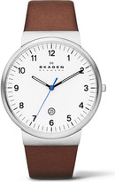 Skagen SKW6082 three-hand leather watch