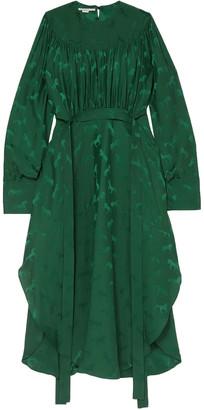 Stella McCartney Draped Satin-jacquard Dress