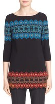 St. John 'Marrakech' Jacquard Knit Tunic