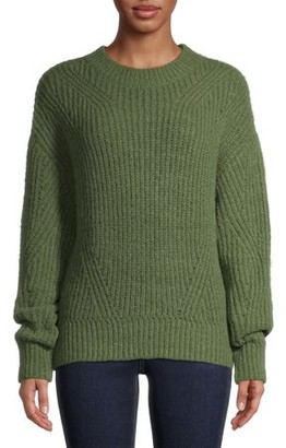 Time and Tru Women's Pointelle Sweater with Lurex
