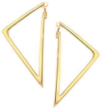 Roberto Coin Basic Gold 18K Yellow Gold Triangular Drop Earrings