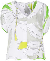 Milly Printed Silk-Crepe Blouse
