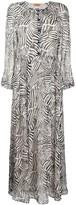 Missoni button down zebra print silk dress