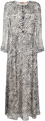 Missoni Button Down Zebra Print Silk Dress