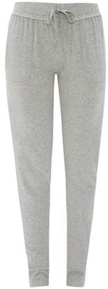 Skin - Slim-fit Cotton Pyjama Trousers - Womens - Grey