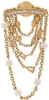 Yvonne Léon 18kt gold diamond chain earring