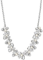 Charter Club Silver-Tone Crystal Garland Collar Necklace, Only at Macy's