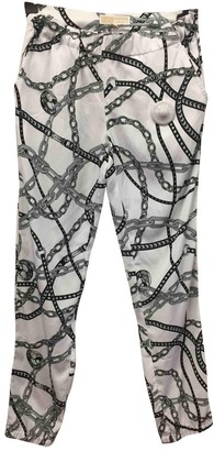 Michael Kors Grey Synthetic Trousers