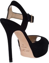 Jimmy Choo Linda Platform Sandal Black Suede
