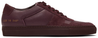 Common Projects Burgundy BBall Premium Low Sneakers