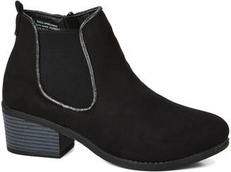 Via Rosa VIA ROSA Women's Casual boots Black - Black Heeled Chelsea Bootie - Women