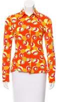 Dolce & Gabbana Geometric Print Button-Up Top