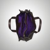 Ralph Lauren Tumbled Leather Tassel Tote