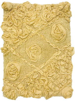 "Home Weavers Inc. Modesto Bath Rug, 17""x24"", Yellow"