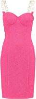 Moschino Chain-strap cotton-blend mini dress
