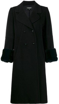 Chanel Pre Owned 1990's Cashmere Midi Coat