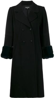 Chanel Pre Owned 1990's Cashmere Midi Coat