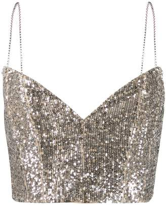 Magda Butrym Beagle sequin cropped top