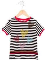 Sonia Rykiel Girls' Striped Embellished Top w/ Tags