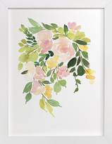 Minted Flora in Peach I Art Print