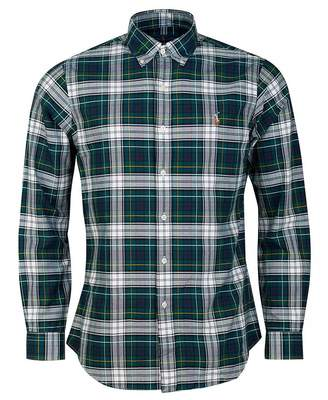 Polo Ralph Lauren Slim Fit Multi Check Tartan Shirt Colour: GREEN, Siz