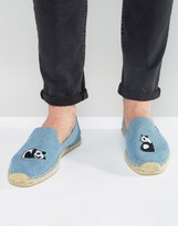 Soludos Embroidered Panda Espadrilles