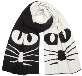 Dorothy Perkins Black cat flat knit scarf