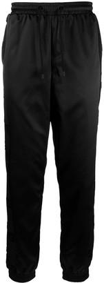 Fendi Satin-Finish Stripe-Detail Trousers
