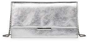 Loeffler Randall Women's Tab Metallic Leather Clutch